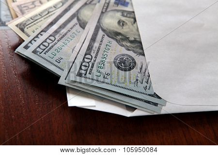 Envelope With A Money