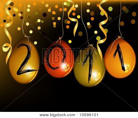 New Year's background with balloons