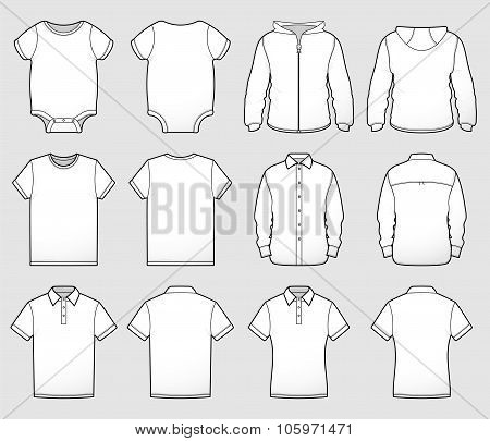 Various Shirt Templates Front And Back