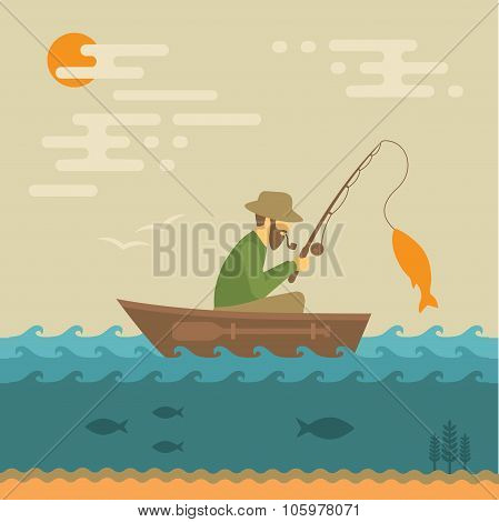 fishing vector illustration,