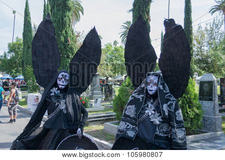Unknown People With Black Angel Costume