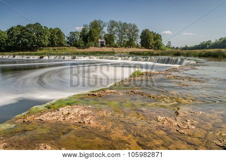 The Widest Waterfall In Latvia