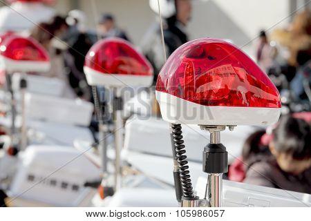 red police light