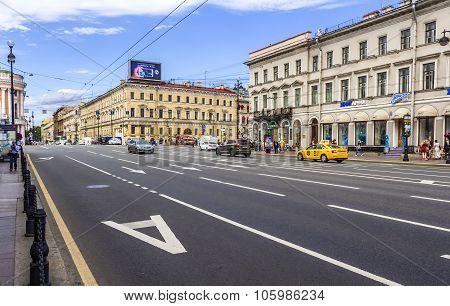 Nevsky Prospect in the city St. Petersburg.