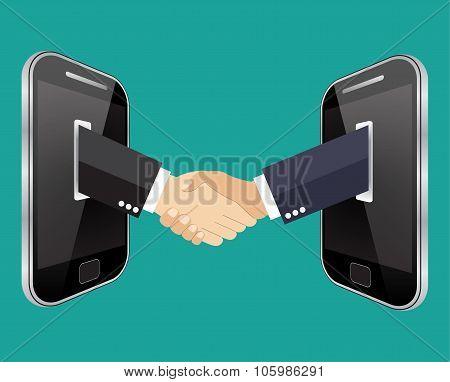 business on mobile concept illustration