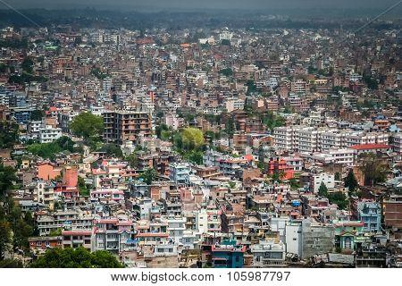 Aerial view of Kathmandu