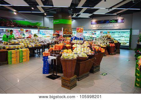 SHENZHEN, CHINA - OCTOBER 13, 2015: blt market interior. blt an acronym of