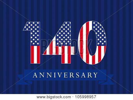 140 anniversary USA logo.