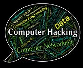 Computer Hacking Meaning Communication Vulnerable And Crime poster