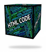 Html Code Representing Hypertext Markup Language And Program Coding poster