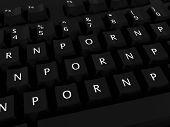 PORN PORN PORN Black Computer Keyboard Background poster