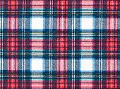 Full Frame Background of Red and Blue Plaid Fabric poster