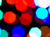Christmas Lights Out of Focus Background Abstract poster