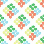 Illustration of decorative colorful rhombuses from circles or spots. Repeating spots in the form of rhombuses. poster