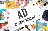 Ad Advertisement Marketing Commercial Concept poster