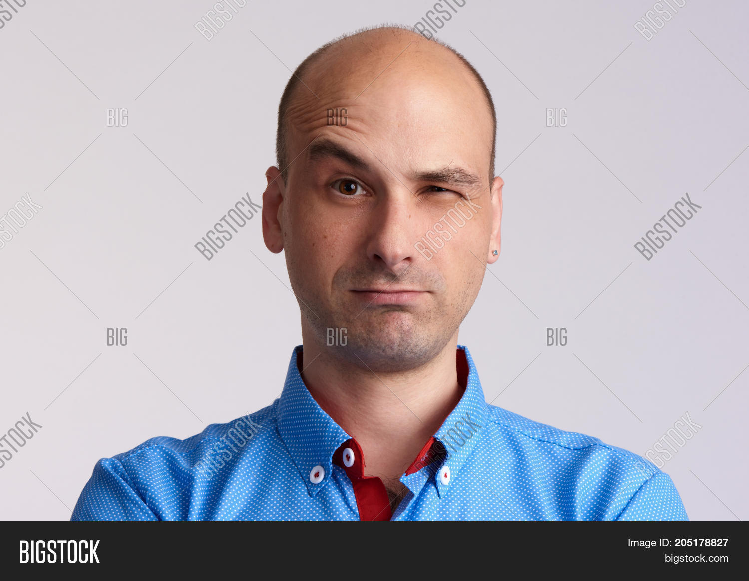 Man Face Raised Image Photo Free Trial Bigstock