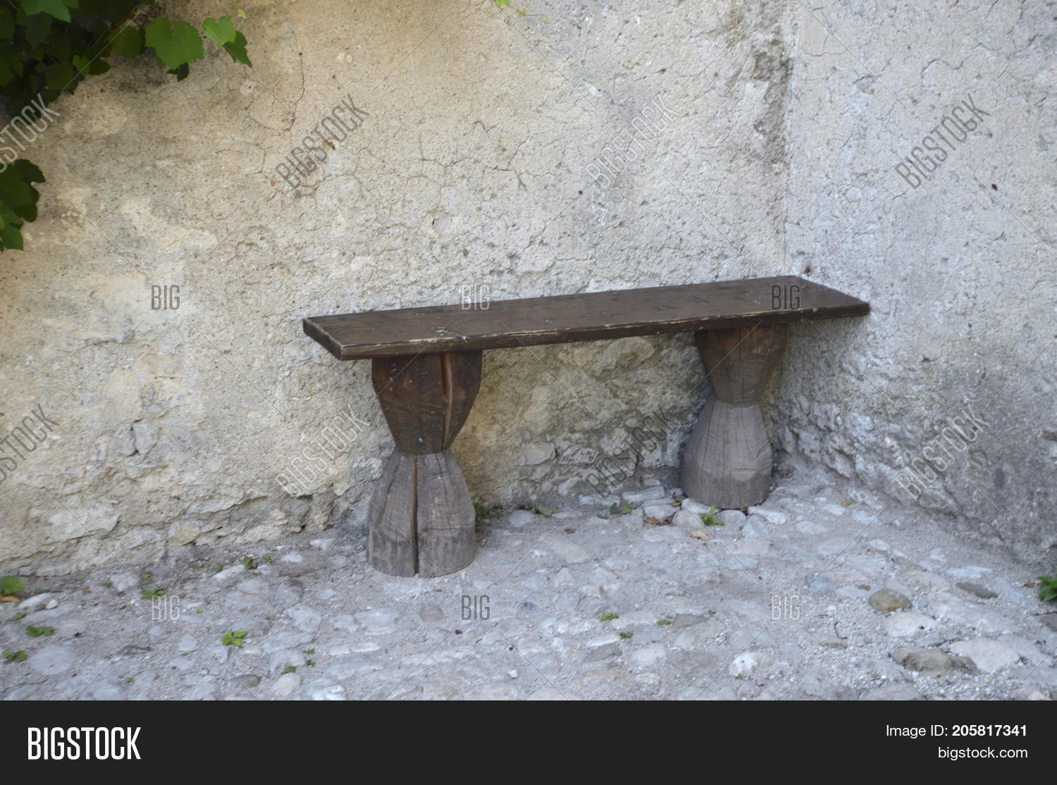 Wondrous Wooden Bench Near Image Photo Free Trial Bigstock Machost Co Dining Chair Design Ideas Machostcouk