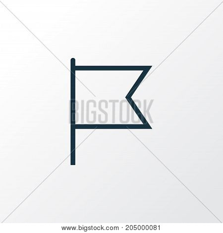 Premium Quality Isolated Goal Element In Trendy Style.  Target Outline Symbol.
