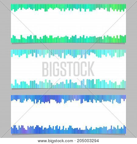 Geometrical banner template design set - horizontal vector graphic collection from vertical lines on white background