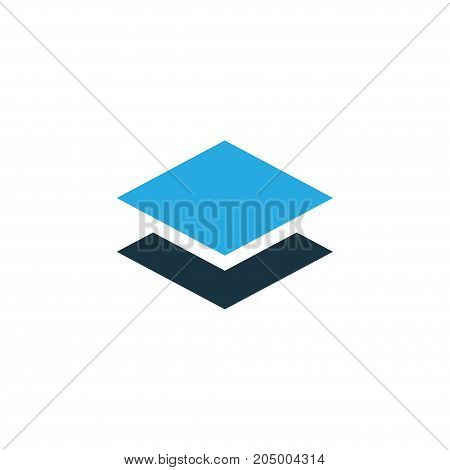 Premium Quality Isolated Level Element In Trendy Style.  Layer Colorful Icon Symbol.