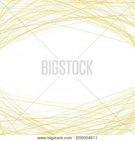 Abstract background with random curved lines at the top and the bottom - vector design