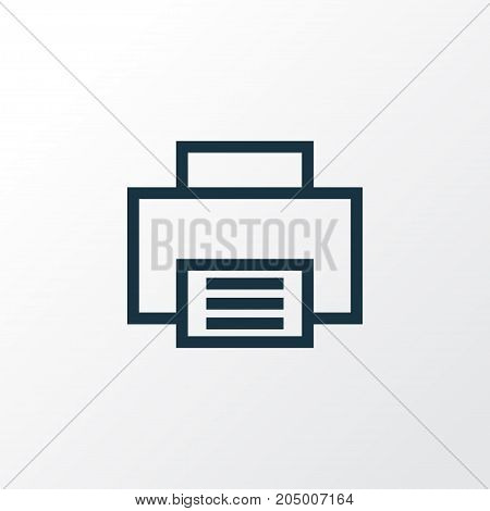 Premium Quality Isolated Print Element In Trendy Style.  Printer Outline Symbol.