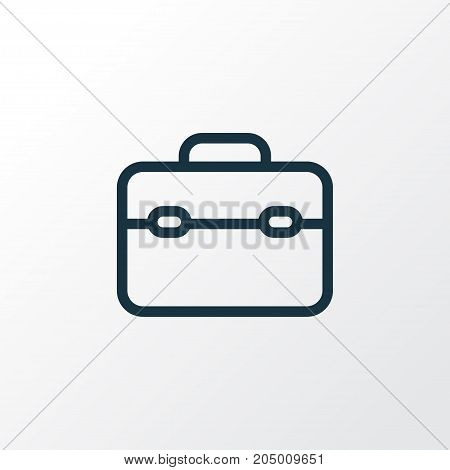 Premium Quality Isolated Toolkit Element In Trendy Style.  Toolbox Outline Symbol.