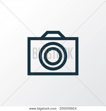 Premium Quality Isolated Camera Element In Trendy Style.  Photo Outline Symbol.