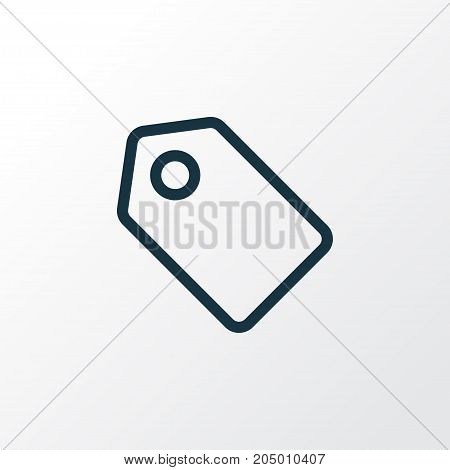 Premium Quality Isolated Tag Element In Trendy Style.  Label Outline Symbol.