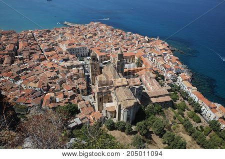 The village of Cefalu in Sicily. Italy