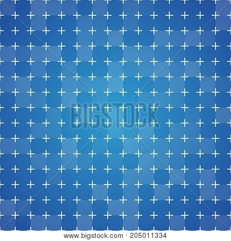 Blueprint background with cross-marking grid. Vintage colorful texture. Vector illustration.