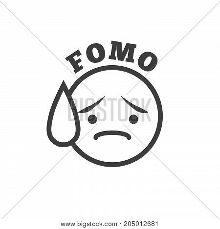 Fomo Icon - Fear Of Missing Out Trendy Modern Acronym - Social Media
