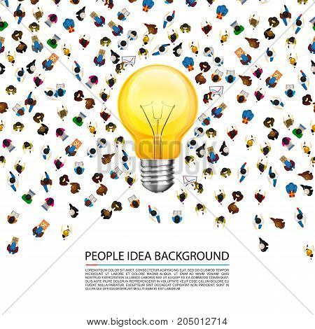 People around a llama on a white background . Vector illustration