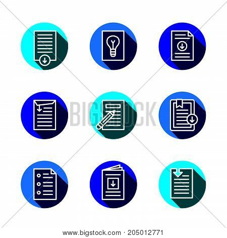 Whitepaper Download Icon Button Set