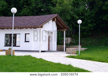 A small house near the forest. Modern style