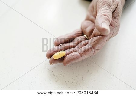 A Health issues at an old age, taking several medicines.