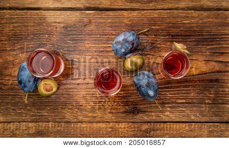 Plum Liqueur, Selective Focus