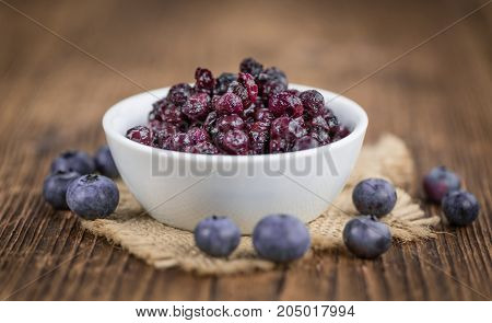 Preserved Blueberries, Selective Focus