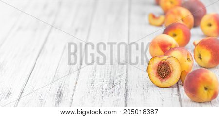 Peaches Close-up Shot, Selective Focus