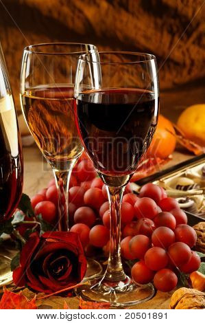Red And White Wine.