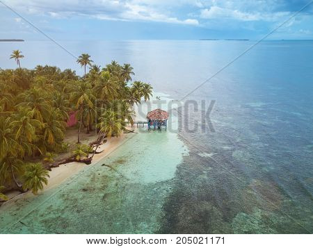 People on private island spend their vacation