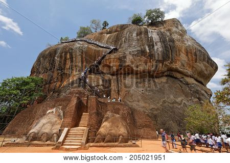 The Lion Rock of Sigiriya in Sri Lanka