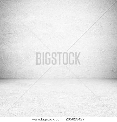 Empty white cement room background banner interior design product display montage mock up background