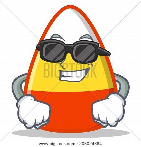 Super cool candy corn character cartoon vector illustration