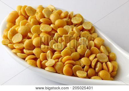Close up of Arhar or toor daal or lentils