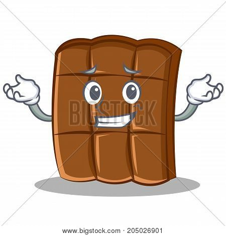 Grinning chocolate character cartoon style vector illustration