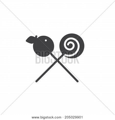Candies icon vector, filled flat sign, solid pictogram isolated on white. Halloween holiday Symbol, logo illustration.