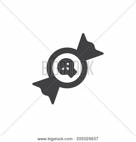 Candy icon vector, filled flat sign, solid pictogram isolated on white. Halloween holiday Symbol, logo illustration.