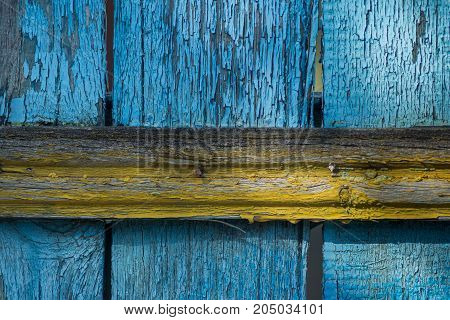 wood, board, old, cracked, natural, paint, blue, corrosion, nails, background, texture, time, fence, grungy, wall, fence, relief, surface, structure