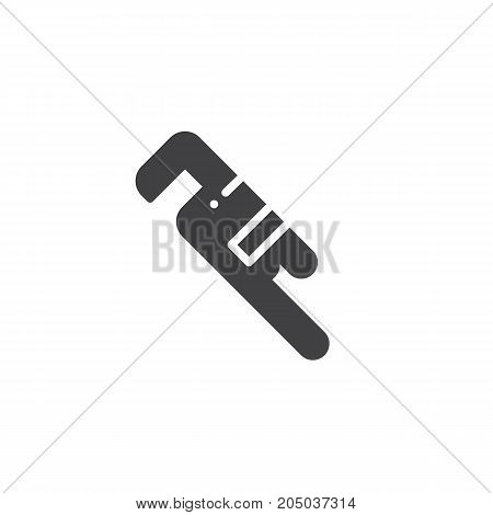 Wrench work tool icon vector, filled flat sign, solid pictogram isolated on white. Symbol, logo illustration.